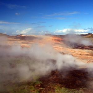 Reykjanes lighthouse and Gunnuhver geothermal area